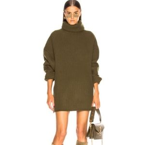 NWT All In Favor   Green Cowl Neck Sweater Dress